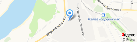 Алесер на карте Белгорода