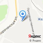 Карнизный ряд на карте Белгорода
