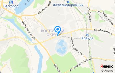 Местоположение на карте пункта техосмотра по адресу г Белгород, ш Михайловское, д 12А