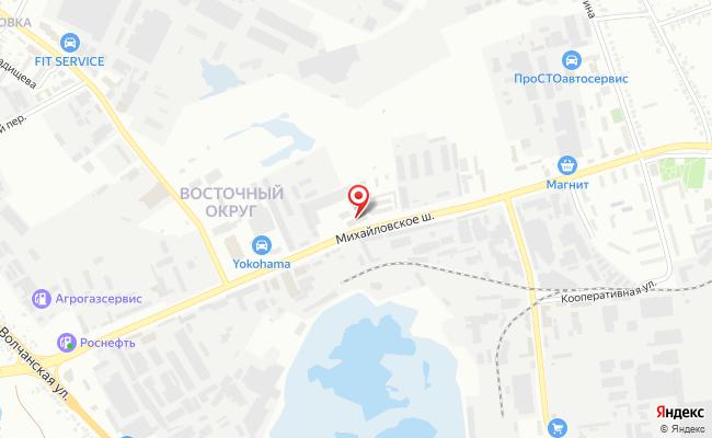 Карта расположения пункта доставки Пункт выдачи в городе Белгород