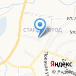 Автостекло Белогорья на карте Белгорода