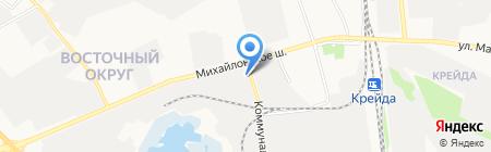 Хафнер-Белогорье на карте Белгорода