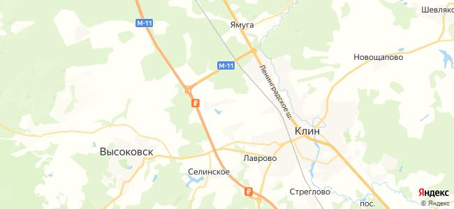 Клин - объекты на карте