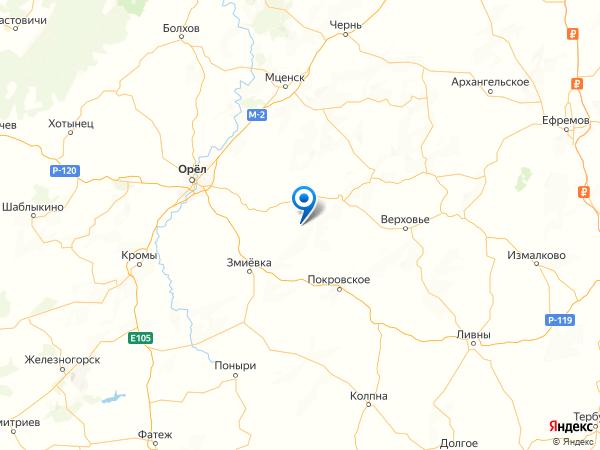 деревня Усово на карте