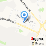 Стерх на карте Белгорода