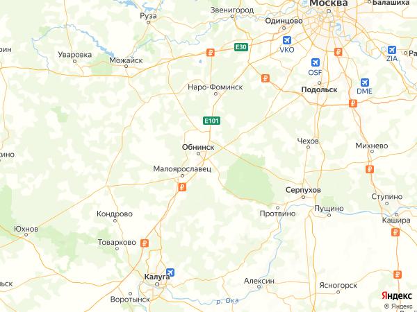 СНТ Лесная Поляна на карте