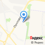 Дентея на карте Белгорода