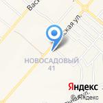 Новосадовый на карте Белгорода
