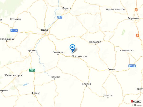 деревня Озерное на карте