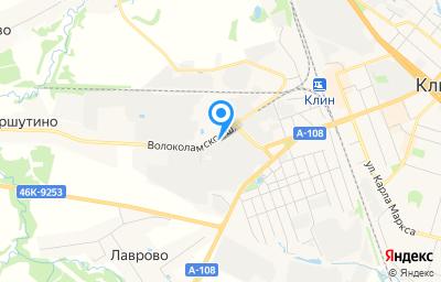 Местоположение на карте пункта техосмотра по адресу Московская обл, г Клин, ш Волоколамское, д 14 стр 12