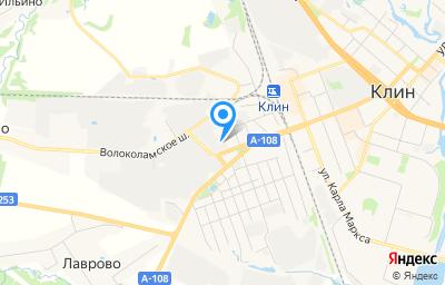 Местоположение на карте пункта техосмотра по адресу Московская обл, г Клин, ш Волоколамское, д 22