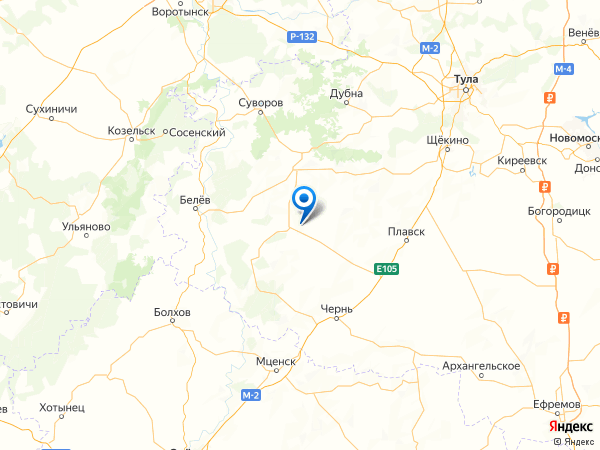 село Ивановское на карте