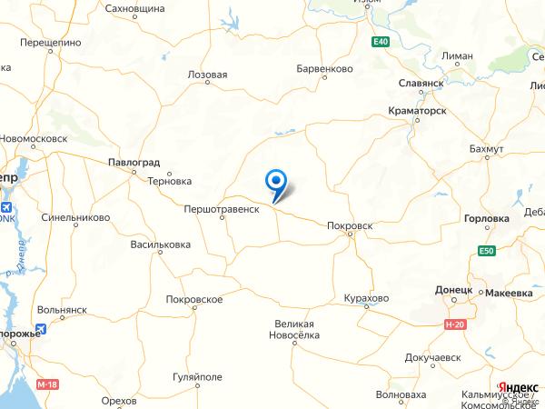 село Славянка на карте
