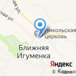 Афина на карте Белгорода
