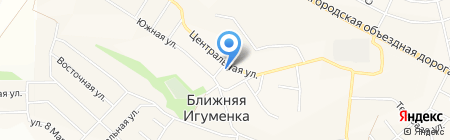Церковь Николая Чудотворца на карте Ближней Игуменки