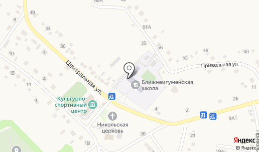 Средняя общеобразовательная школа. Схема проезда в Ближней Игуменке
