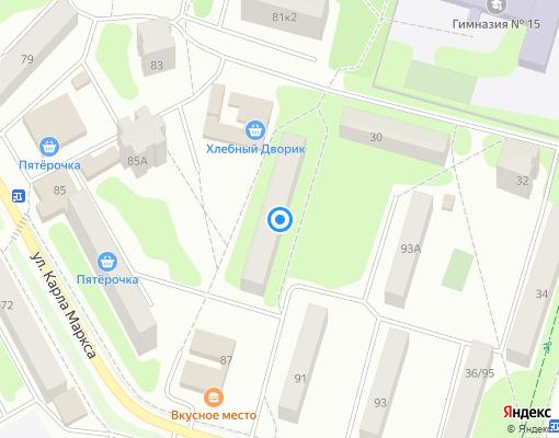 Жилищно-строительный кооператив «Спутник» на карте Клина