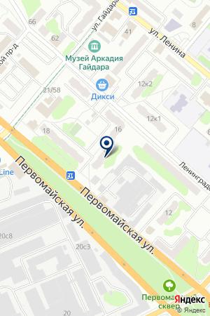 ПРОДОВОЛЬСТВЕННЫЙ МАГАЗИН КБ на карте Клина