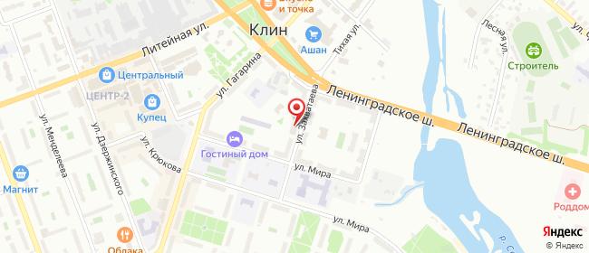 Карта расположения пункта доставки Пункт выдачи в городе Клин