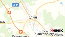 Гостиницы города Клин на карте