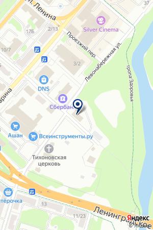 ПТФ КЛИНСКИЙ ТРИКОТАЖ на карте Клина