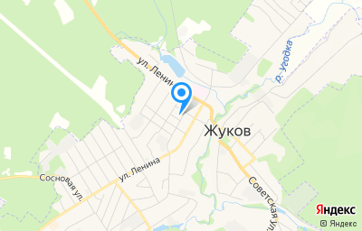 Местоположение на карте пункта техосмотра по адресу Калужская обл, г Жуков, ул Пушкина, д 4А
