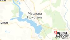 Гостиницы города Маслова Пристань на карте
