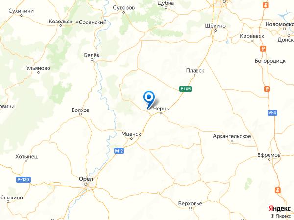 поселок Красная Горка на карте