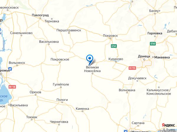 село Веселое на карте