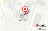 Схема проезда до компании Состра-рус в Бужарово