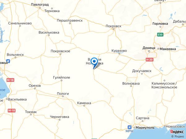 посёлок Благодатное на карте