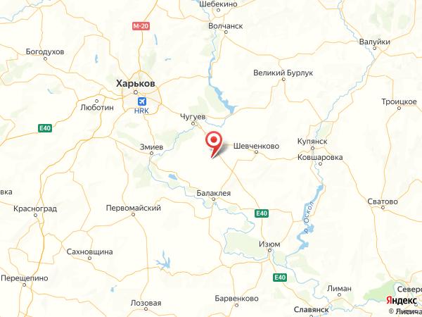 село Степное на карте