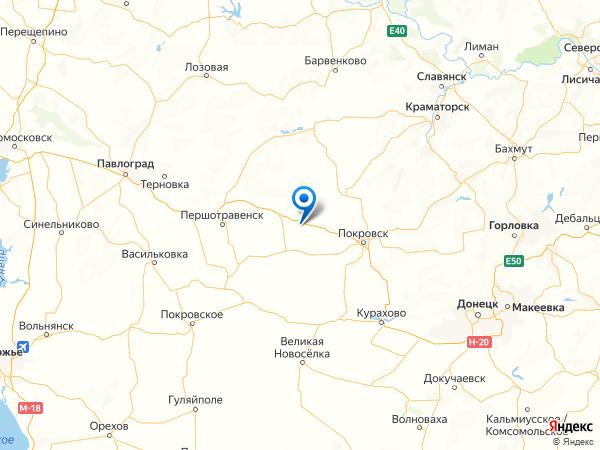 село Калиновка на карте