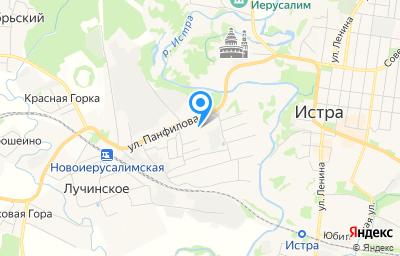Местоположение на карте пункта техосмотра по адресу Московская обл, г Истра, г Дедовск, ул Панфилова, зд 46А/7