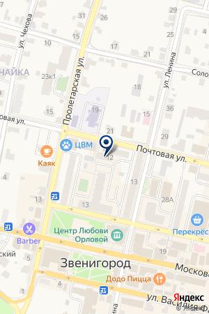 МАГАЗИН КНИГИ на карте Звенигорода