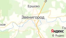 Гостиницы города Звенигород на карте