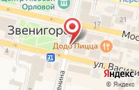 Схема проезда до компании Таежные Дачи в Звенигороде