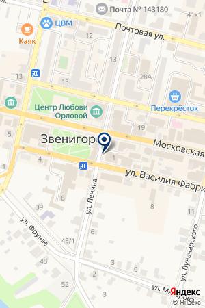 ПАНСИОНАТ ДРУЖБА на карте Звенигорода