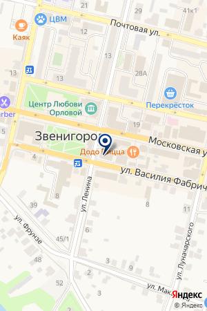 ТЦ ЗВЕНИГОРОД на карте Звенигорода
