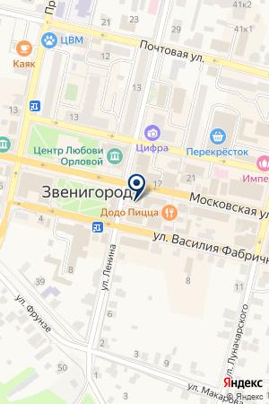 ПРОДУКТОВЫЙ МАГАЗИН ОРЛОВА на карте Звенигорода