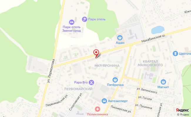Карта расположения пункта доставки Пункт выдачи в городе Звенигород