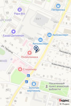 ЗВЕНИГОРОДСКИЙ ПСИХОНЕВРОЛОГИЧЕСКИЙ ДИСПАНСЕР на карте Звенигорода