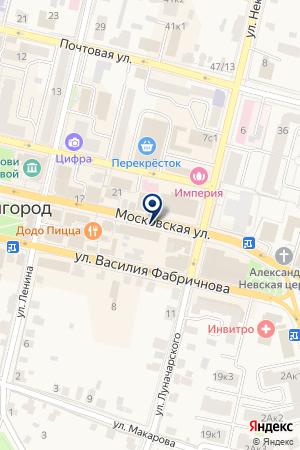 ДИСПЕТЧЕРСКАЯ СЛУЖБА АВТОСТАНЦИЯ ЗВЕНИГОРОД на карте Звенигорода