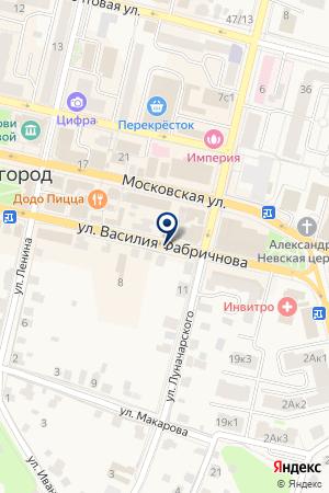 ОФИС ПРОДОВОЛЬСТВЕННЫЙ МАГАЗИН ГРУЗДЕВ А.В. на карте Звенигорода