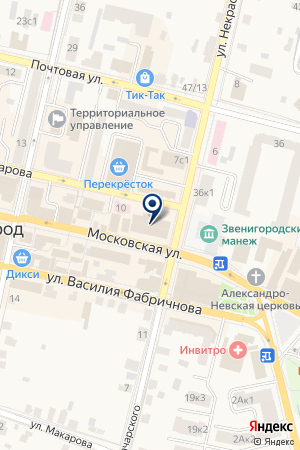 БАР ЗВЕНИГОРОД на карте Звенигорода