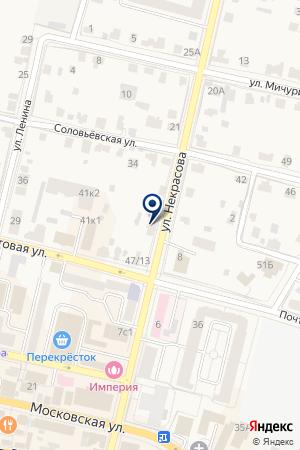 ТЦ РАДУГА на карте Звенигорода