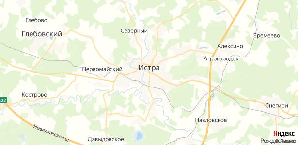 Истра на карте