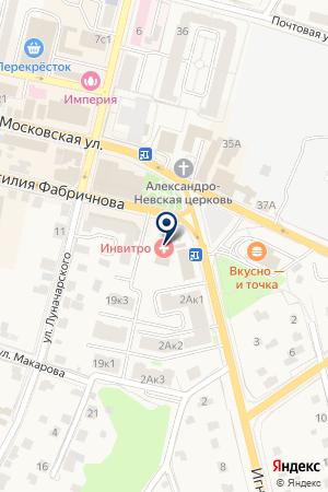 БАНЯ на карте Звенигорода