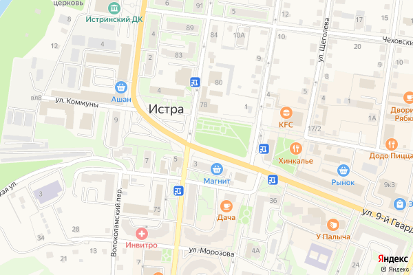 Ремонт телевизоров Город Истра на яндекс карте