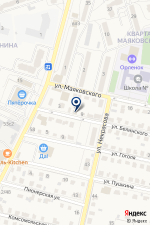 НОТАРИУС на карте Звенигорода